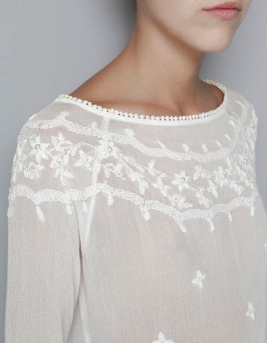 Pretty detailed white blouse