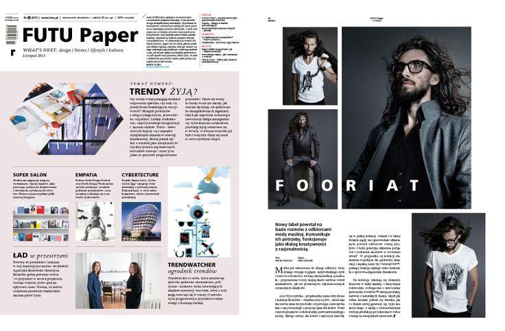 FOORIAT™ in FUTU Paper magazine