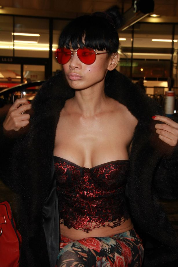 Bai-Ling-having-fun-at-LAX-airport-in-Los-Angeles-after-arriving-from-Atlantic-City