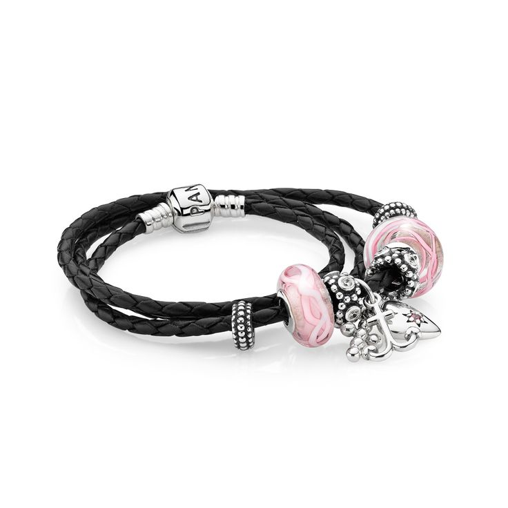 Capri Jewelers Arizona ~ www.caprijewelersaz.com  Faith, Love & Hope Leather Bracelet | PANDORA STORE