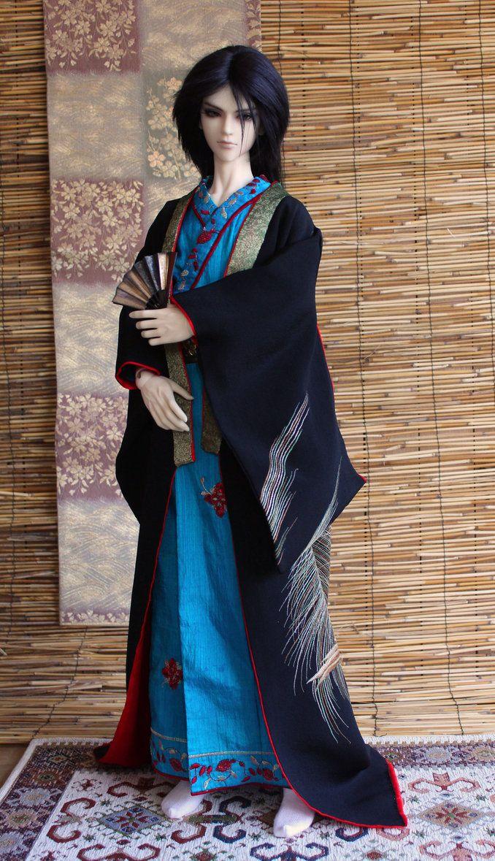 BJD kimono, Iwaki sama's Formal Attire by InarisansCrafts