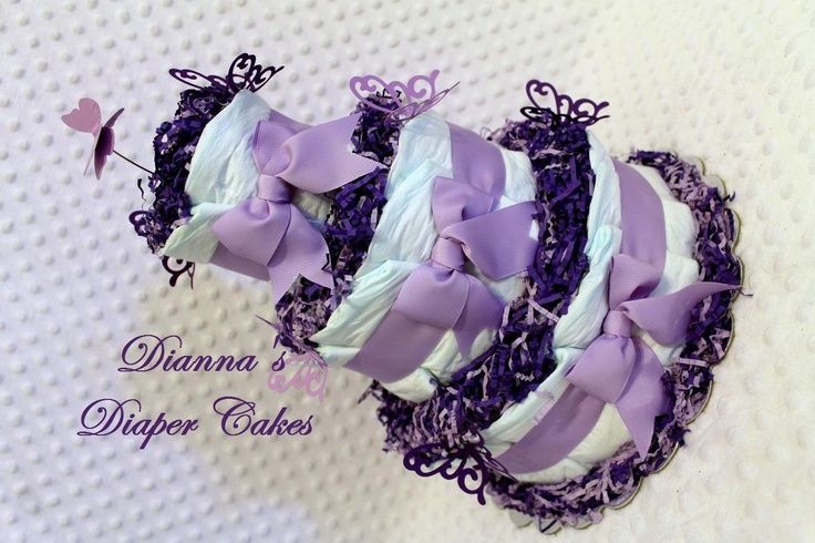 Pink and Lavender butterflies Baby Shower Decorations | Lavender Baby Shower Themes | Purple Butterflies Baby Diaper ... | Ba ...
