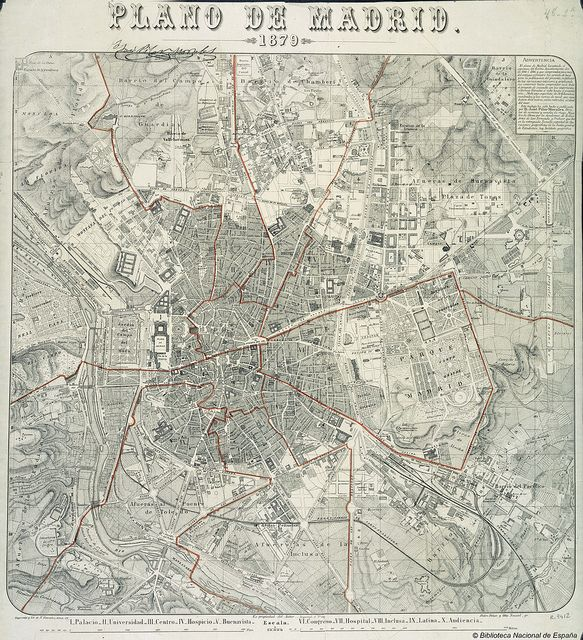 Plano de Madrid, 1879 | Flickr: Intercambio de fotos