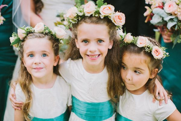 flower girl rose crowns! | Paige Reaux #wedding