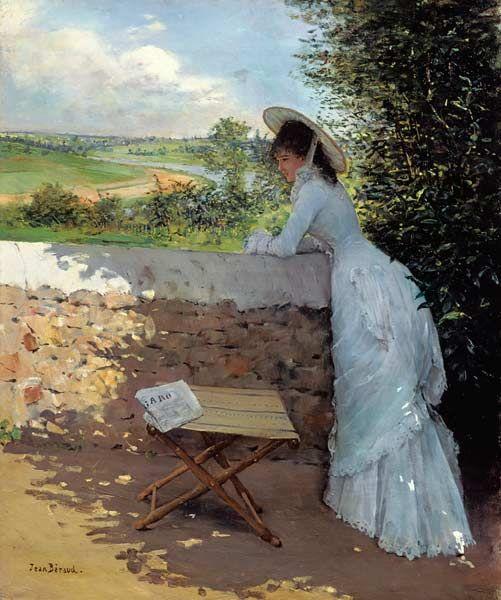 Titre de l'image : Jean Beraud - Un Figaro de Reve (oil on canvas)