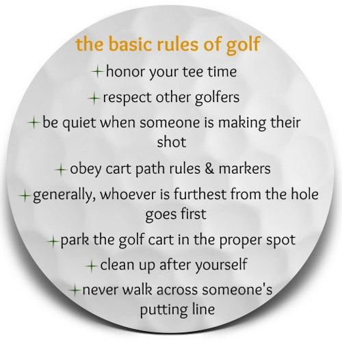 The Basic Rules of Golf. What you need to know for your first round! #golf #girlswhogolf #ladygolfer #golfrules