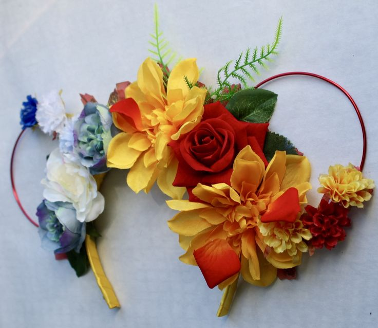 Excited to share the latest addition to my #etsy shop: Floral and Wire Tiara, Mouse Ears, Flower Crown, Beauty and the Beast, Holidays, Theme Parks,Fancy Dress, Festivals, UK Based http://etsy.me/2GIZ6Sv #beautyandthebeast #mouse #ears #disney #mickey #minnie #belle