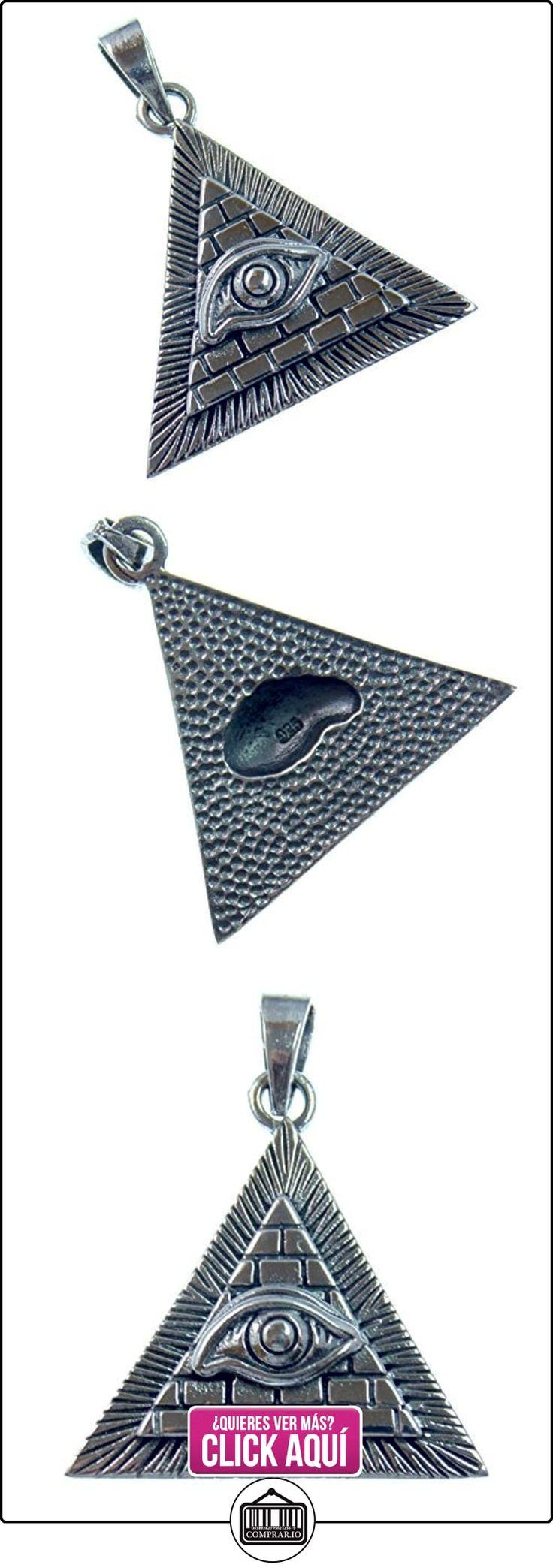 Plata colgante pirámide con ojo de Horus, amuleto de la suerte y símbolo de poder y Próspero vida, Plata de ley 925, 3,3cm L, 2,9cm B  ✿ Joyas para mujer - Las mejores ofertas ✿ ▬► Ver oferta: https://comprar.io/goto/B01IKP0FVA