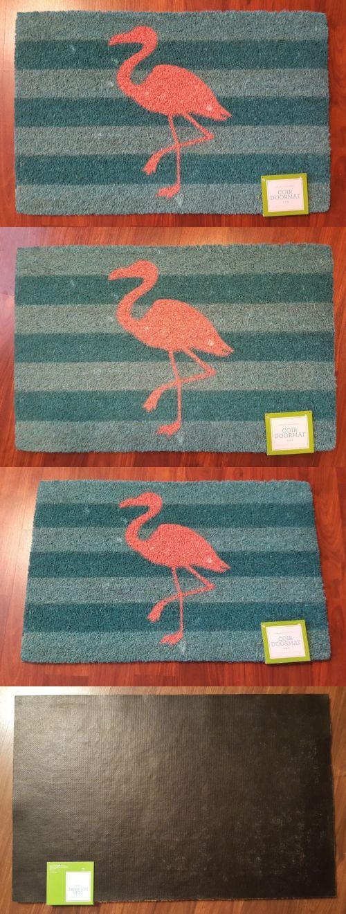 Door Mats and Floor Mats 20573: Flamingo Coir Welcome Mat Doormat Front Entry Door Rug Tropical Coastal New -> BUY IT NOW ONLY: $31.04 on eBay!