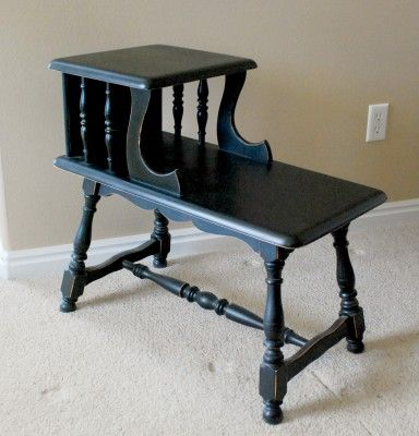 Good instructions on how to refurbish furniture with spray paint (time saver)!