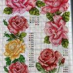 Rosas e Flores para Ponto Cruz