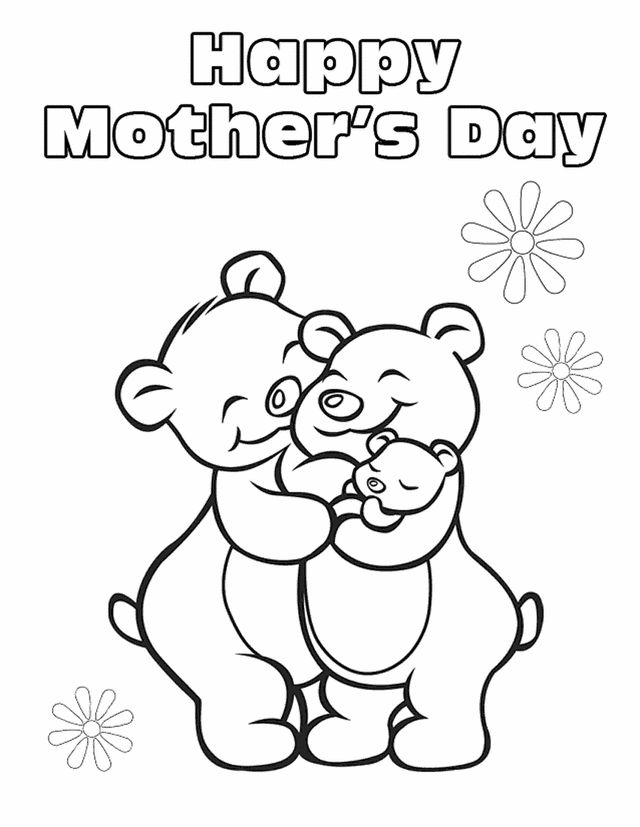 Mothers Day Coloring Pages Is A Of Celebration When Children Express Their