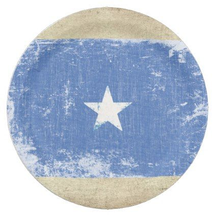 Somalia Flag Paper Plates - kitchen gifts diy ideas decor special unique individual customized