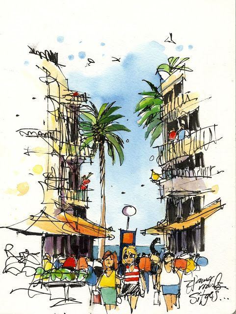 Urban Sketchers: Exploring Sitges!