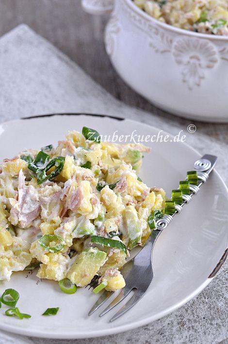 Kartoffelsalat mit Thunfisch und Avocado