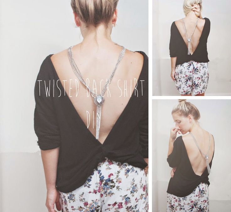 Twisted Back | Open Back Shirt DIY this is awesome, make sure you read the directions carefully