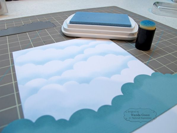 steps to making a soft blue sky background - tutorial - bjl