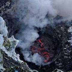 Monte Erebus:um vulcão ativo na ilha Ross, na Antártica
