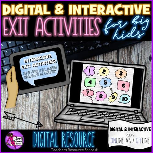 Digital Interactive Exit Activities. End of lesson closure activities to test learning: no preparation or resources required and suitable for any lesson! You can now ensure you are checking your students' learning with this interactive, fun and easy to use quality resource: absolutely ideal for a variety of ages and abilities! This in an exciting, interactive PowerPoint show where students click on a flower which will take them to a fun activity to test their learning. It is so convenient to…