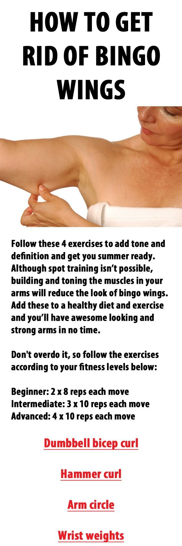 Sun's out, guns out; and it's time to banish those dreaded bingo wings.