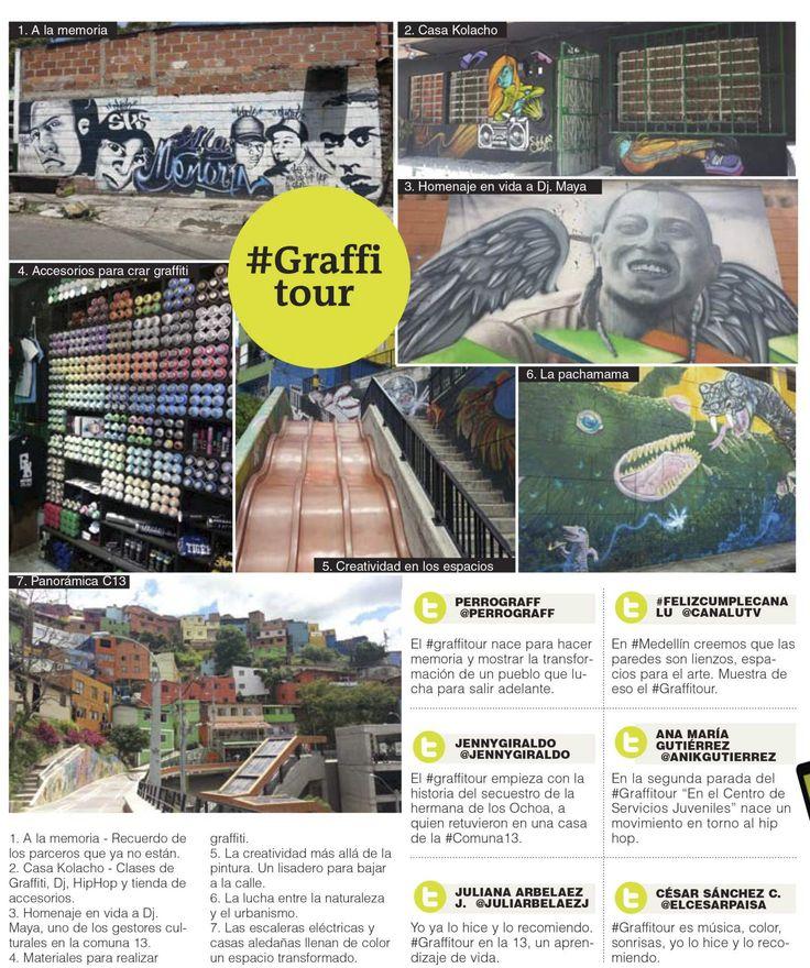 La 13, cuna de creadores Con graffitis, hip-hop, baile e historias de transformación, el colectivo Casa Kolacho busca conservar la memoria de la comuna 13 en sus visitantes.