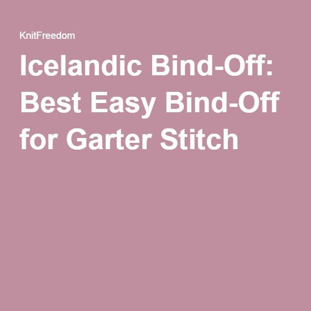 Icelandic Bind-Off: Best Easy Bind-Off for Garter Stitch