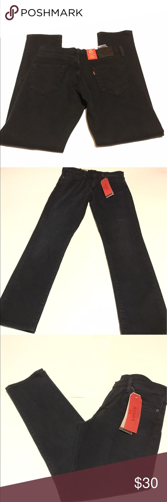 Levi's 511 slim jeans dark wash 30x39 men Brand new with tags, they sit below the waist and slim fit. Levi's Jeans Slim