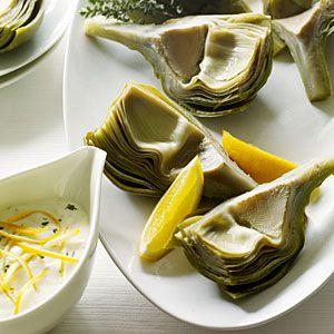10 easy artichoke recipes: Food And Wine, 10 Easy, Wine Kitchens, Artichoke Recipes, Artichokes Recipe, Garlic Thym Mayonnaise, Easy Recipes, New Recipe, Freezers Jam