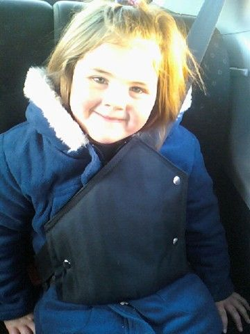 Morgan from KZN using her Secure-A-Kid Safety Harness for seat belts