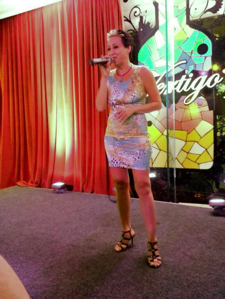Enjoying karaoke in Cairns