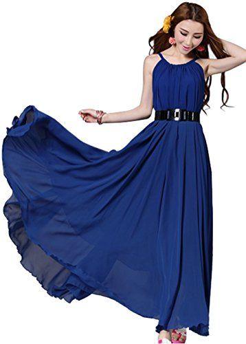 Summer Sleeveless Long Boho Chiffon Evening Vintage Cocktail Party Dress (Blue) Aweids http://www.amazon.com/dp/B00KX1S0NA/ref=cm_sw_r_pi_dp_E4RVub10QY9M1