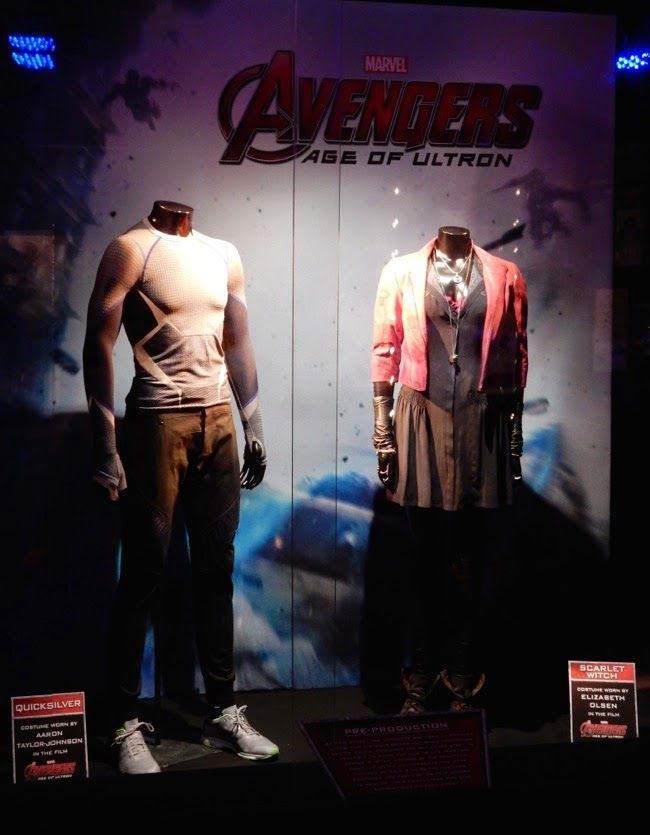 Avengers: Age of Ultron Quicksilver and Scarlet Witch film costumes