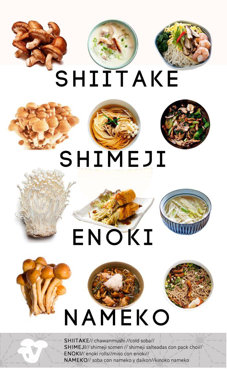 Cocina japonesa para principiantes. Variedades de setas japonesas
