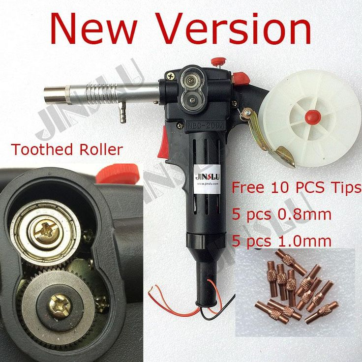 [Visit to Buy] NEW Nylon Body Toothed Roller Free Parts MIG Spool Gun Push Pull Feeder Aluminum Steel Welding Torch without Cable #Advertisement