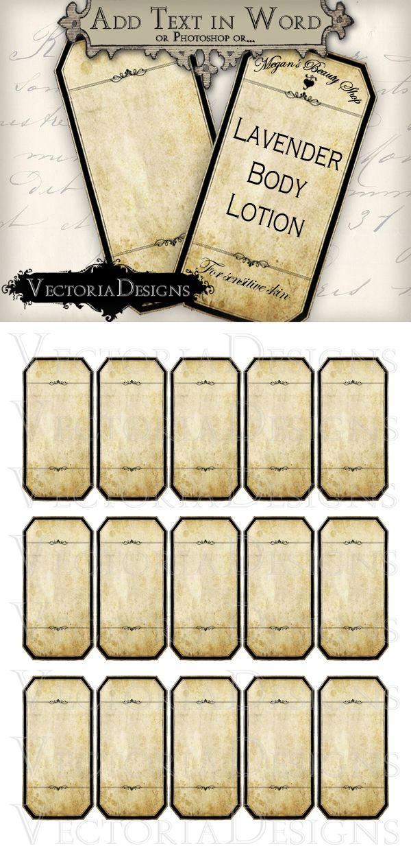 Printable Blank Apothecary Labels