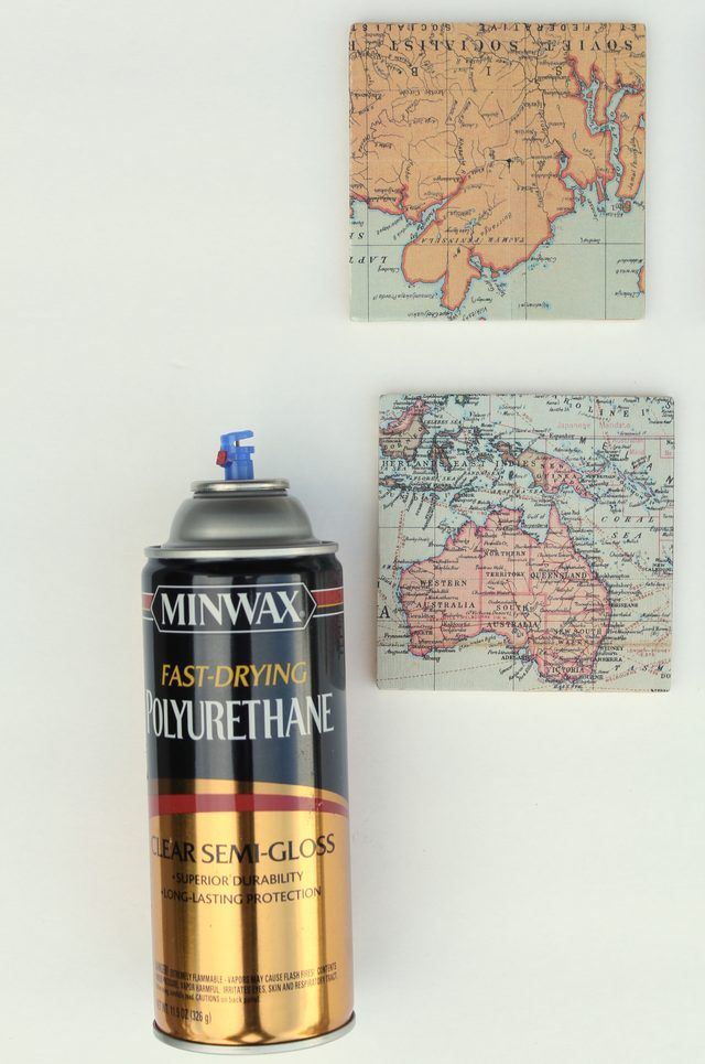 Use Vintage Maps To Make These Super Cool Coasters Diy