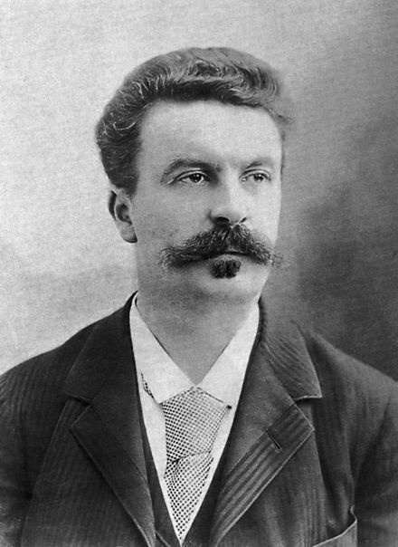 Henri René Albert Guy de Maupassant (French pronunciation: [gi d(ə) mo.pa.ˈsɑ̃] ; 5 August 1850 – 6 July 1893), 19th-century French writer, considered one of the fathers of the modern short story and one of the form's finest exponents.