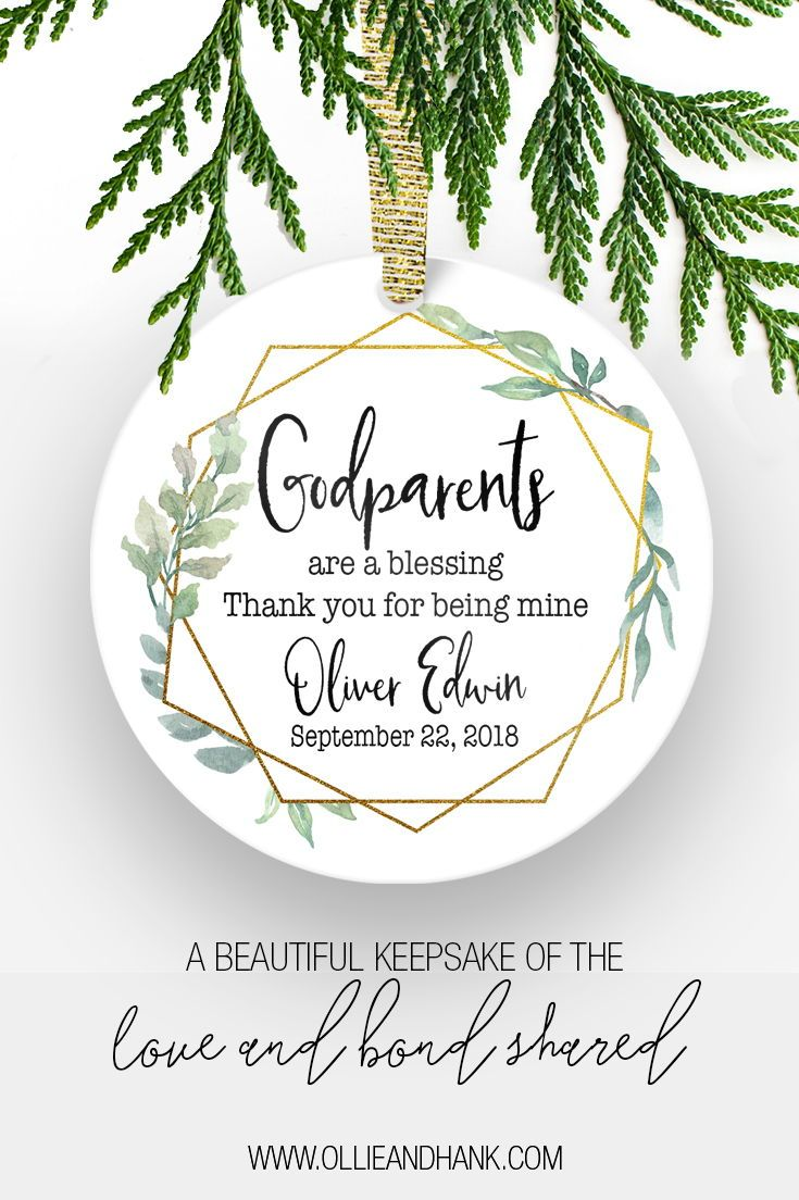 Godparent Baptism Gift | Godparent Christmas Ornament in 2018 ...