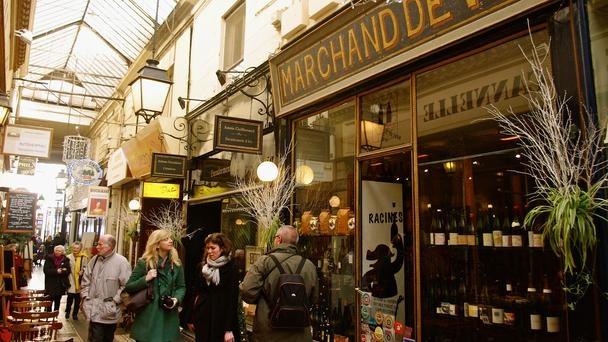 Passages des Panoramas, Paris, shopping: Restaurant, Rue De, Arcade, Hidden Passageways