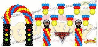 Resultado de imagen para decoración de cars con globos