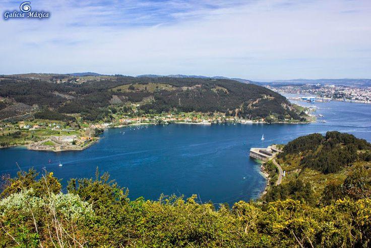 Ría de Ferrol, desde la Bailadora. (A Coruña). Galicia. Spain.