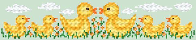 Σχέδια με πάπιες για κέντημα/Duck cross stitch patterns