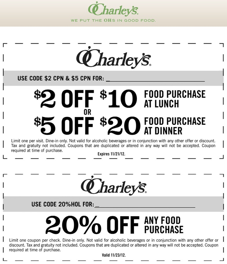 photograph regarding O'charley's $5 Off $20 Printable Coupon named Amys coupon clipping company / Kohls discount codes 2018 on the internet