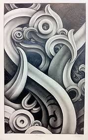 Image result for kowhaiwhai sketch