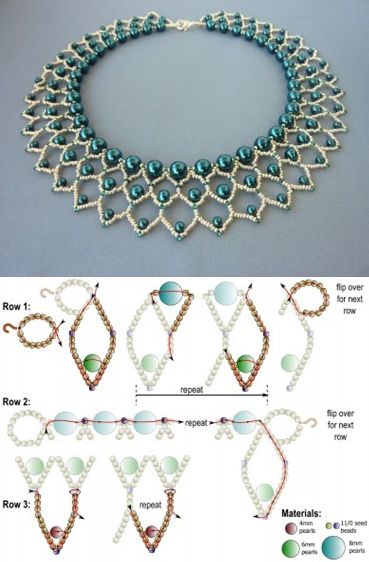 12178 best Bead patterns neckles images on Pinterest Tutorials