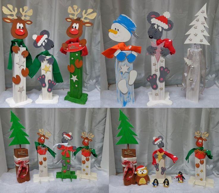 details zu deko holzpfosten weihnachtliche holzdeko holzfiguren versch zur auswahl neu. Black Bedroom Furniture Sets. Home Design Ideas