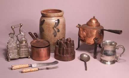 Victorian cooking utensils.