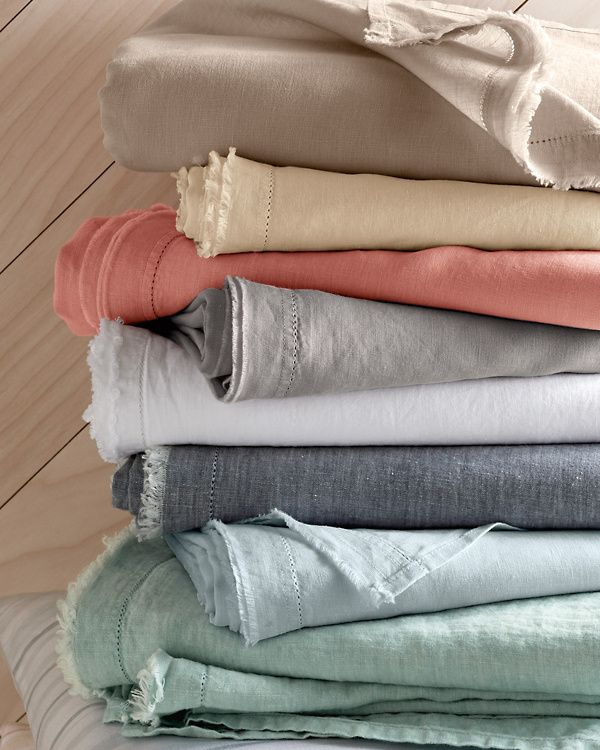 Eileen Fisher Solid Washed Linen Cases Linen Bed Sheets Pure