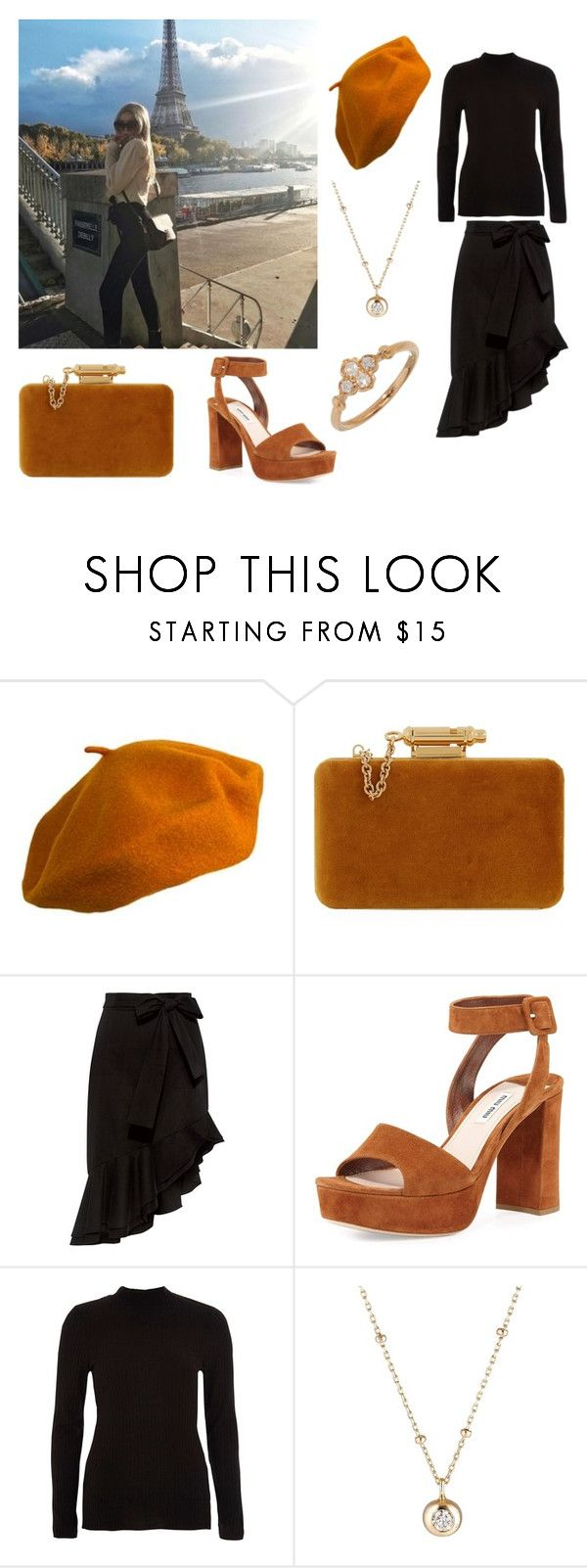"""""""hang out in paris"""" by selin-richie ❤ liked on Polyvore featuring Burberry, Sophie Hulme, Saloni, Miu Miu, River Island, Hirotaka and Cartier"""
