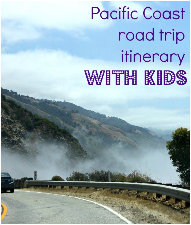 A 10 day itinerary for a Pacific Coast road trip with kids - heading down Highway 1 in California from San Francisco to Pismo Beach with a few great places to stop along the way
